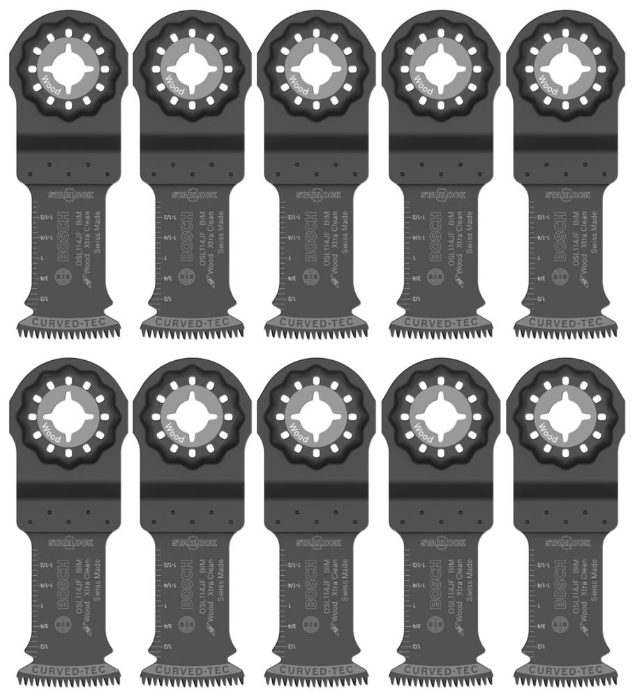 1-1/4 inch Starlock Oscillating Multi Tool Bi-Metal Xtra-clean Plunge Cut Blade 10 Pk.