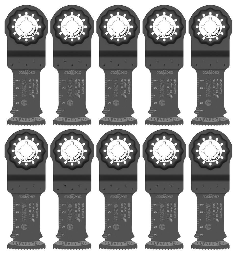 1-1/4 inch Starlock Oscillating Multi Tool Bi-Metal Plunge Cut Blade 10 pk.