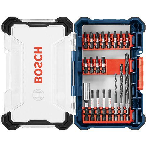 Bosch 20 pc. Impact Tough Drill Drive Custom Case System Set