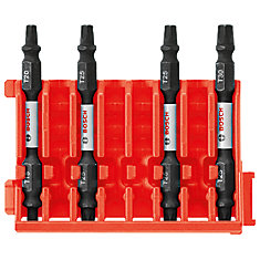4 pc. Torx 2.5 inch Double-Ended Bits with Clip for Custom Case System