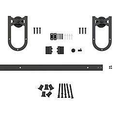 Onward Black Knight - Decorative Visible Rail Sliding Barn Door System