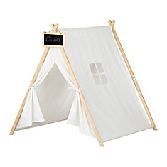 Sweedi Organic Cotton and Pine Play Tent with Chalkboard