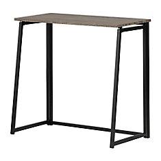 Stupendous Evane Industrial Folding Computer Desk Natural White Oak Interior Design Ideas Inesswwsoteloinfo