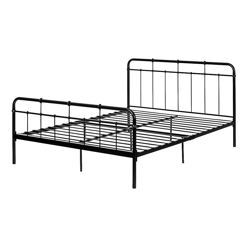 Gravity Metal Platform Bed, Black