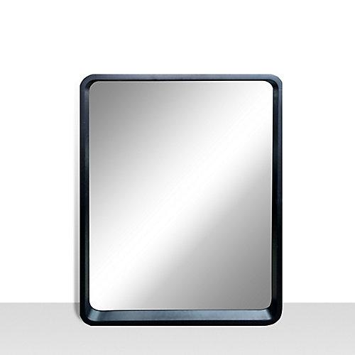 Miroir de meuble-lavabo avec coins arrondis Harmony, 25pox31po, noir satiné