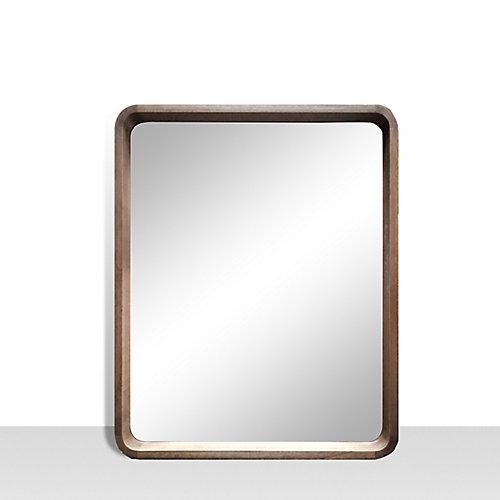 Miroir de meuble-lavabo avec coins arrondis Harmony, 25pox31po, noyer. Bois véritable.