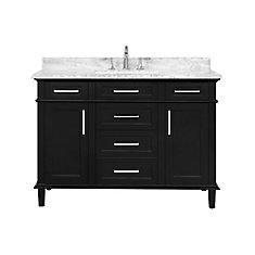 Sonoma 48  inch Black Single Sink Vanity