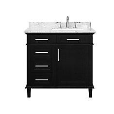 Sonoma 36  inch Black Single Sink Vanity