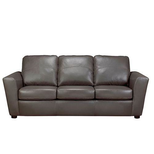Sofa By Fancy 3 Seater Leather Sofa in Grey