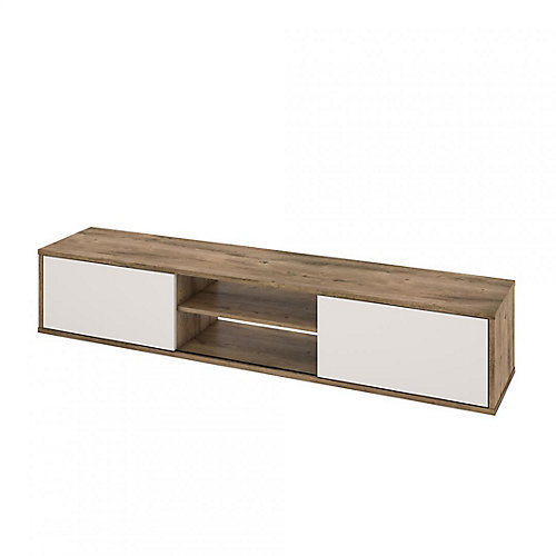 FOM Tv Stand in Rustic Brown & Sandstone