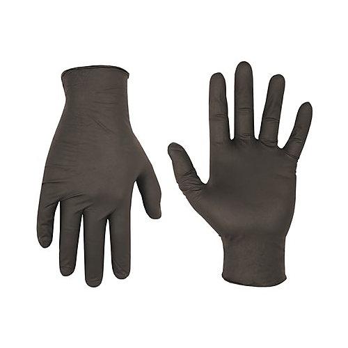 Black Nitrile Disposable Gloves Medium