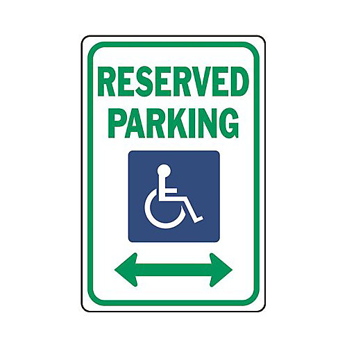 18 -inch X 12 -inch Heavy-Duty Aluminum Reserved Parking Traffic Sign