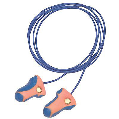 Laser Trak Bouchons d'oreille à haute visibilité et détectables en métal Cordés