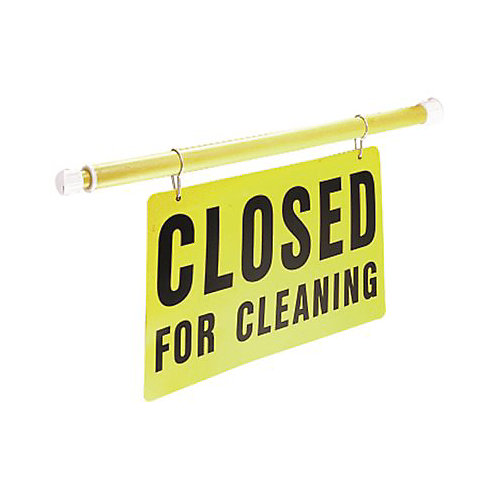 Products Adjustable Length Closed For Cleaning Safety Sign