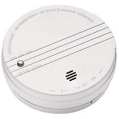 Détecteur de fumée à piles avec indicateur d'alimentation à led et capteur d'ionisation