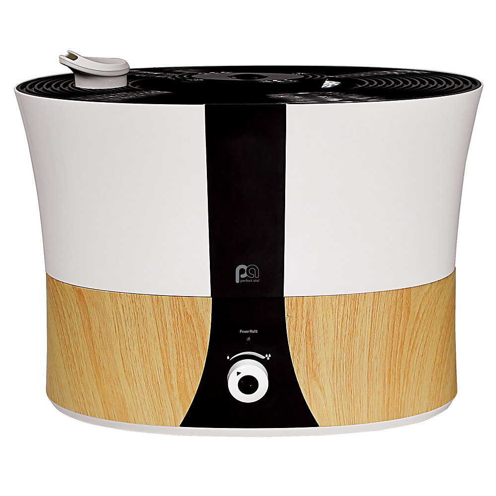 Humidificateur ultrasonique à plateau de table en grain de bois, 1,4 gallon