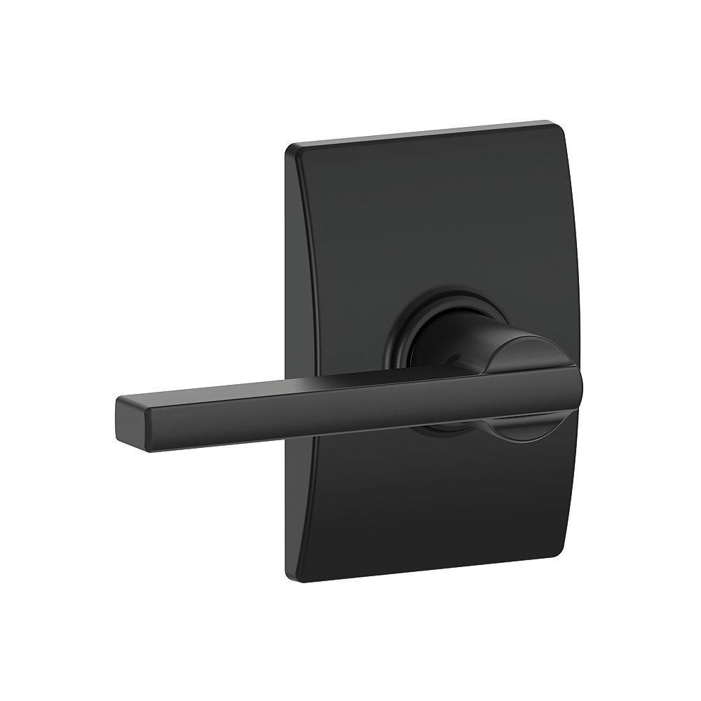 Levier de porte de vestibule / couloir noir mat Latitude avec garniture Century