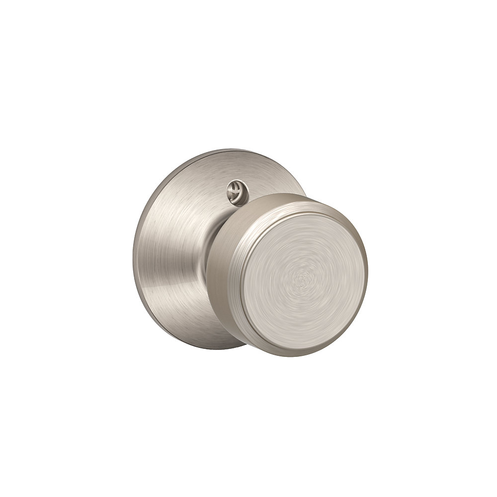 Bouton de porte factice Bowling Nickel Satiné