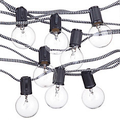 Denver Designer Series 10-Light 10 ft. Indoor/Outdoor String Light, Vintage Edison Bulbs Included