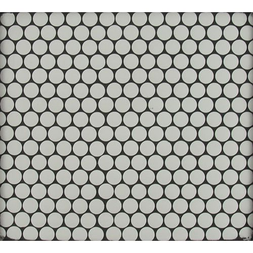 MSI Stone ULC Blanco Penny Round 11.5-inch x 11.63-inch x 10 mm Matte Porcelain Mesh-Mounted Mosaic Tile