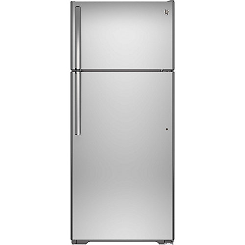 30-inch 18 cu. Ft. Top Mount No Frost Refrigerator in Stainless Steel