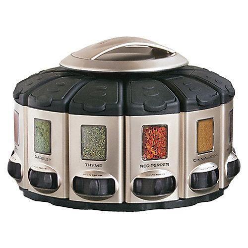 Select-A-Spice Auto-Measure Carousel Professional Series, Satin