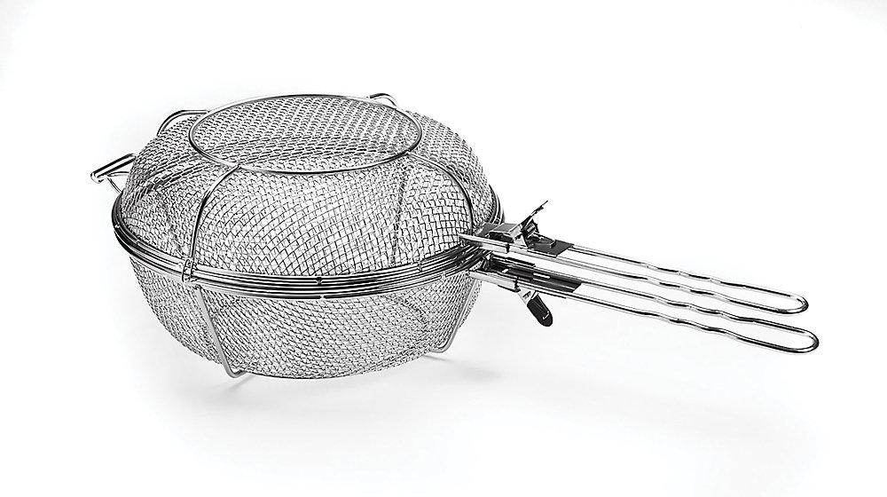 Panier Jumbo Grill avec poignées amovibles, acier inoxydable