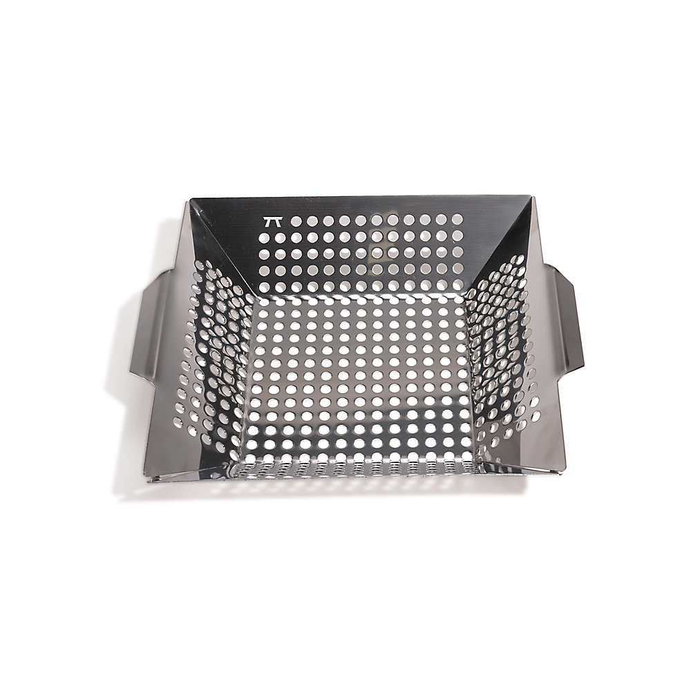 Wok à grille carrée, acier inoxydable