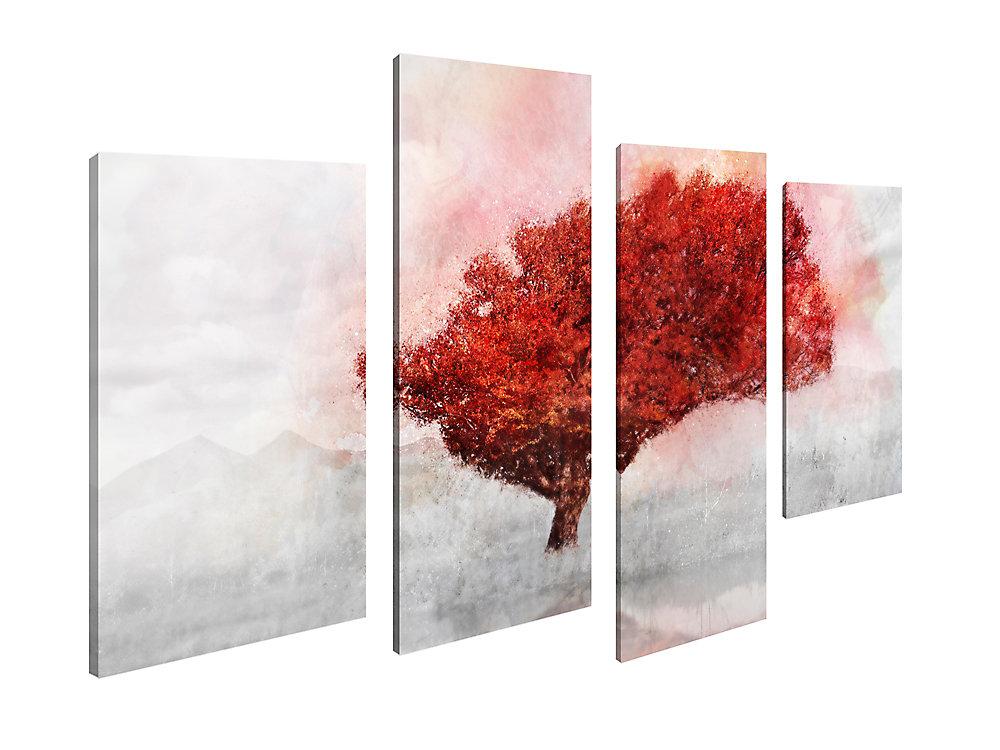 La Maison de l'art Canada, paysage automne arbre Giclee Print Art mur de toile Jeu de 4