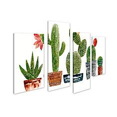 La Maison de l'art Canada, plante Cactus Giclee Print Art mur de toile Décoration pour la maison et de bureau Jeu de 4