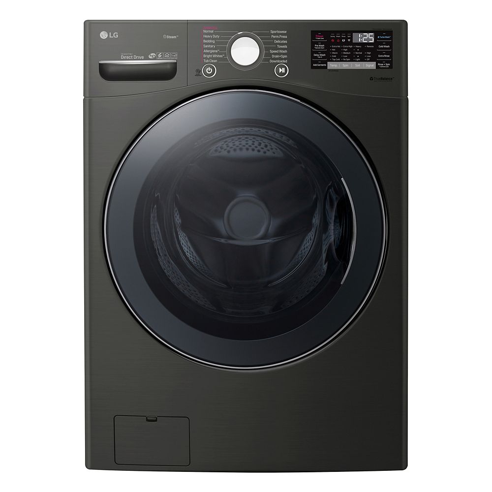LG Electronics 5.2 cu.ft Front Load Washer with TurboWash® in Black - ENERGY STAR®