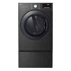 7.4 cu.ft. Capacity Electric Dryer with TurboSteam in Black Steel - ENERGY STAR®