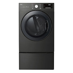 7.4 cu.ft. Smart wi-fi Enabled Gas Dryer with TurboSteam in Black Steel - ENERGY STAR®