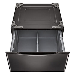 27-inch Black Steel Laundry Pedestal