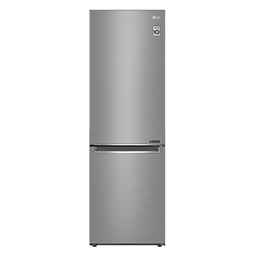 24-inch Counter Depth 2 Door Bottom Freezer in Platinum Silver