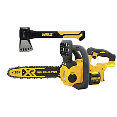 20V MAX Cordless 12-Inch Brushless Chainsaw & 20 oz. Campers Hatcher