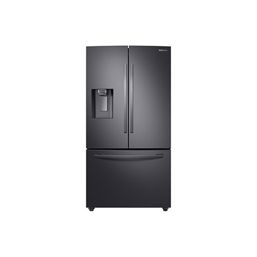Samsung 36-inch W 28 cu.ft. French Door Refrigerator in Fingerprint Resistant Black Stainless Steel, Standard Depth - ENERGY STAR