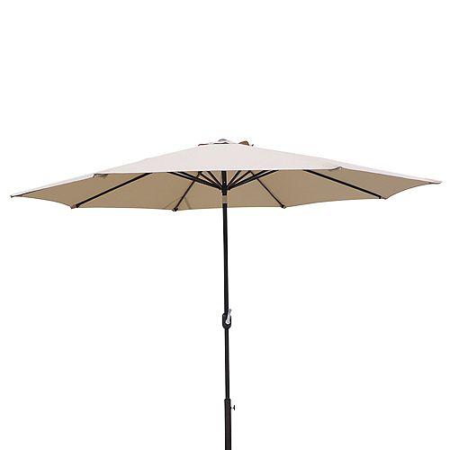 Island Umbrella Calypso 11-ft. Octagonal Market Umbrella w/ Auto-Tilt in Stone Olefin