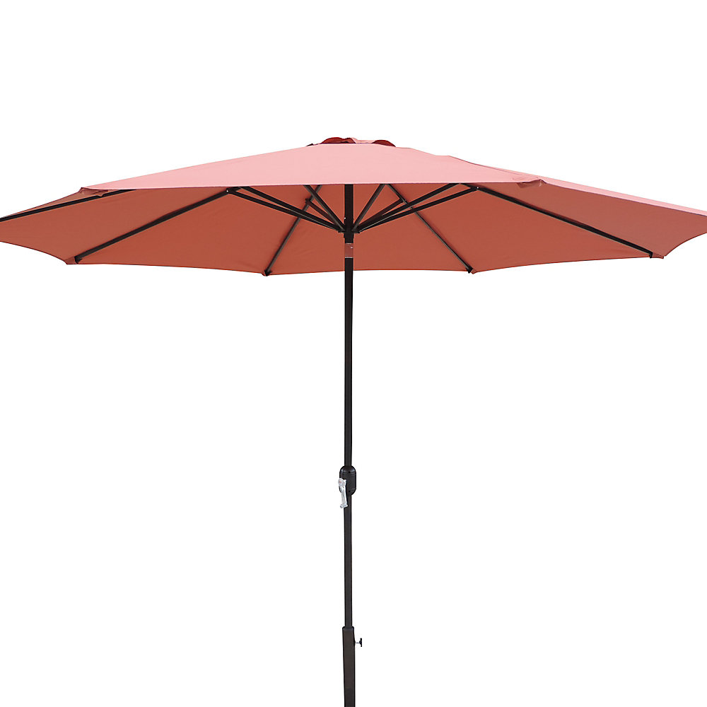 Calypso 11-ft. Octagonal Market Umbrella w/ Auto-Tilt in Terra Cotta Olefin