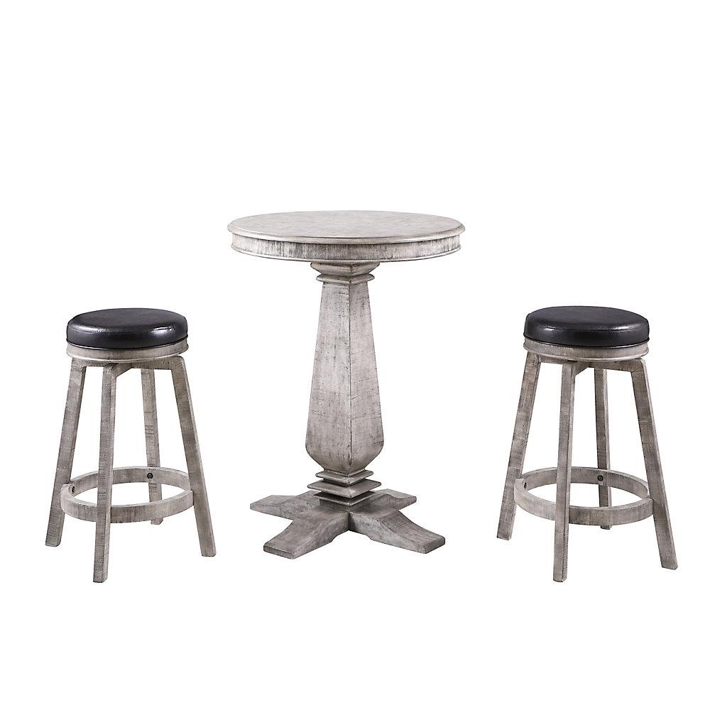 Ensemble Montecito 3-pièces - table pub et tabourets de bar