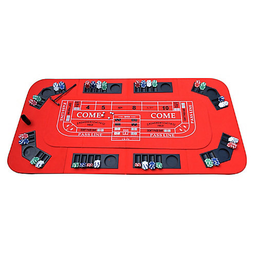 No Limit 3-in-1 Portable Casino Tabletop - Red Felt
