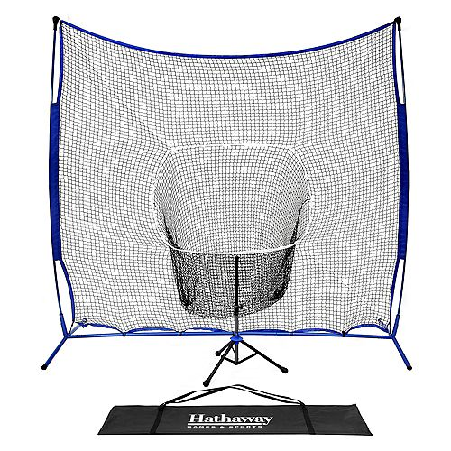 Hathaway Powerstroke Baseball Hitting Net System with Adjustable Tee
