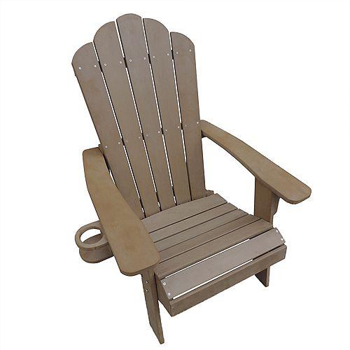 Island Retreat Adirondack Chair in Teak - Outdoor Deck, Patio Seating
