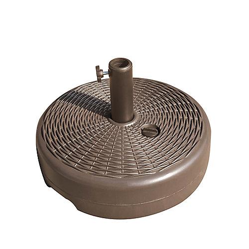 Base remplissable pour parasol de 7.5 pi pour poteau de 1.5 à 1.9 po de diamètre