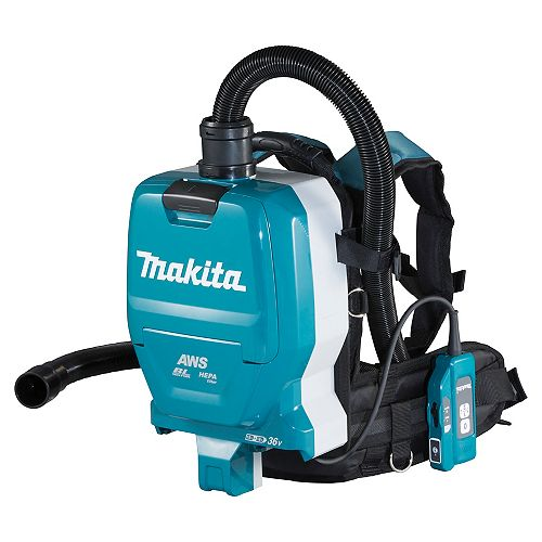 MAKITA 18Vx2 LXT Cordless Backpack Vacuum Cleaner with AWS (2.0 L)
