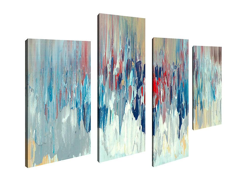 La Maison de l'art Canada, Giclee aléatoire abstraite photographie Art mur de toile Décoration pour la maison et de bureau Jeu de 4