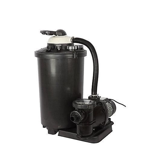 Système de filtre à sable de 16 po, 75 lb. pour les piscines hors terre