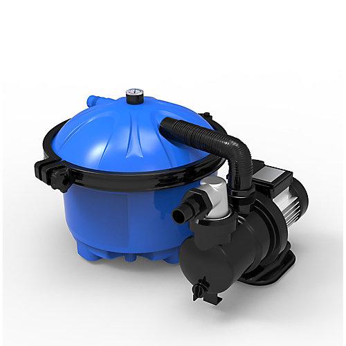 Plus système pour les piscines hors-terre de 16 po avec matériau filtrant Cotton Tails - 2100 GPH