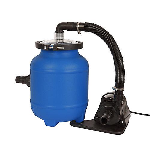 Plus système pour les piscines hors-terre de 16 po avec matériau filtrant Cotton Tails - 1056 GPH