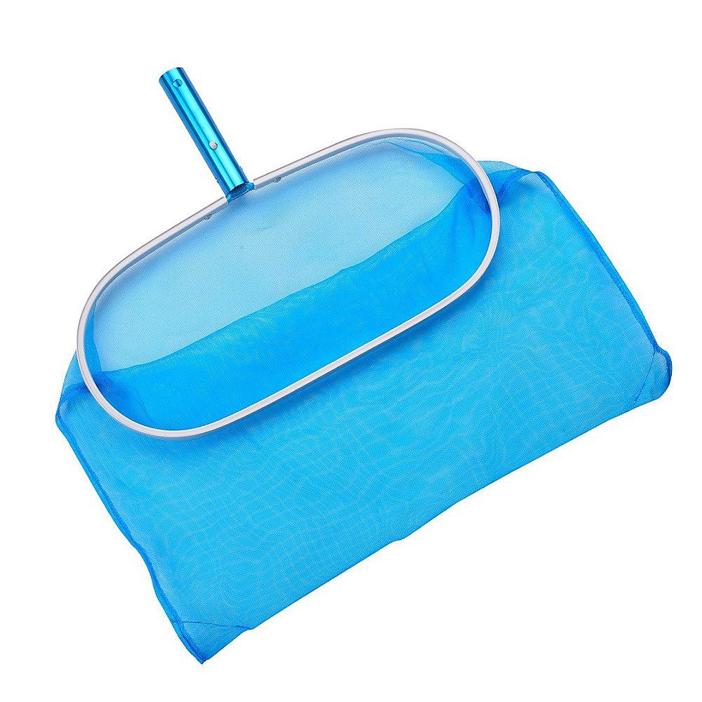Râteau à sac pour piscine en aluminium avec maille résistante aux produits chimiques